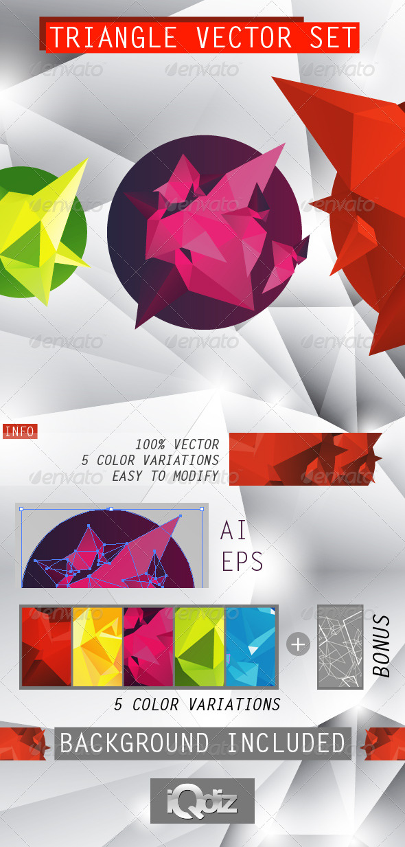 GraphicRiver Triangle vector set 244711