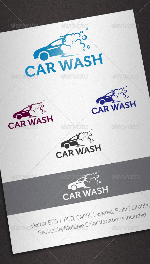 Graphic River Car Wash Logo Template Logo Templates -  Objects 2161113