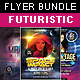 Futuristic Style Flyer Bundle - GraphicRiver Item for Sale