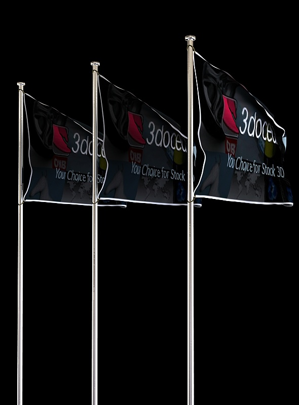 Animated Looping Flag - 3DOcean Item for Sale