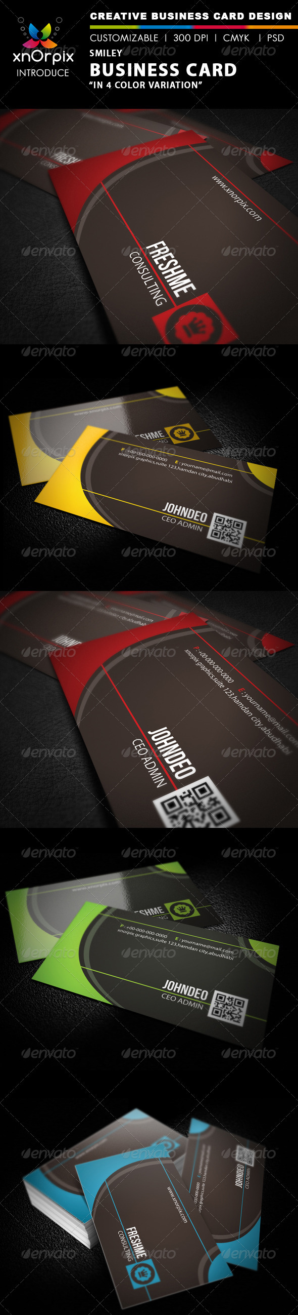 Smiley Business Card - Business Cards Print Templates