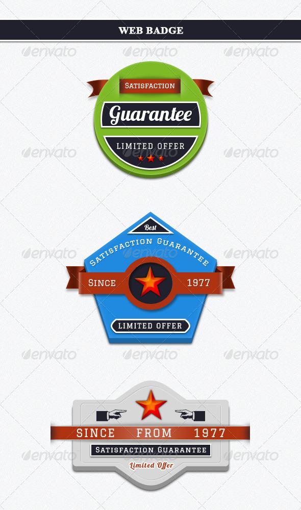 Web Bages - Badges & Stickers Web Elements