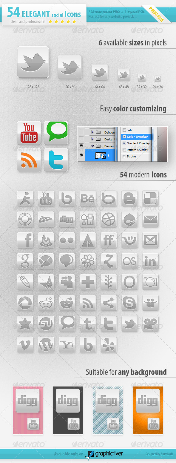 54 Social Media Icons