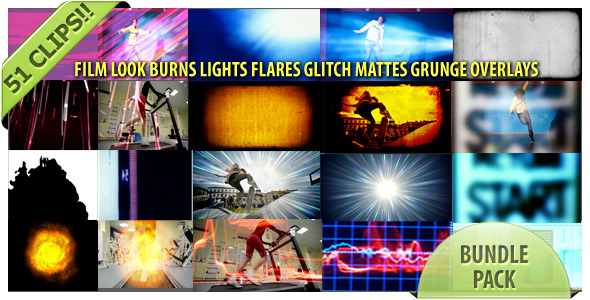 VideoHive Film Looks Glitch Fast Trans Burns And Paint Bundl 2162079
