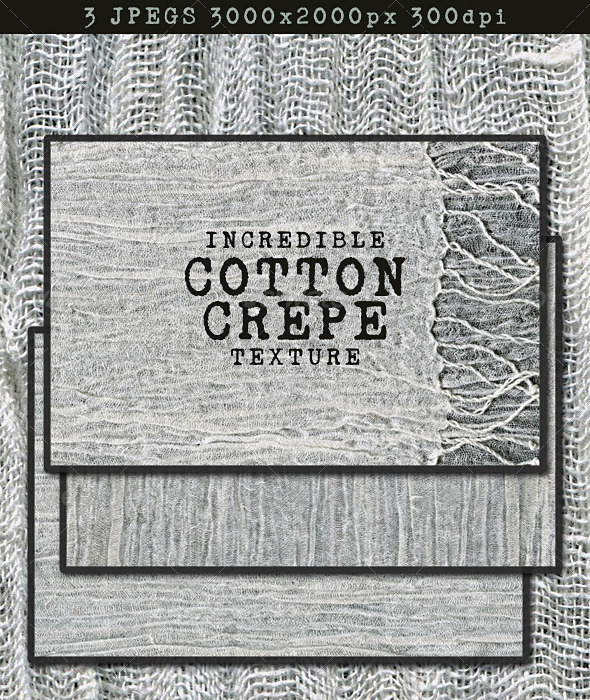 Cotton Crepe Fabric; Loose Weave Muslin - Fabric Textures