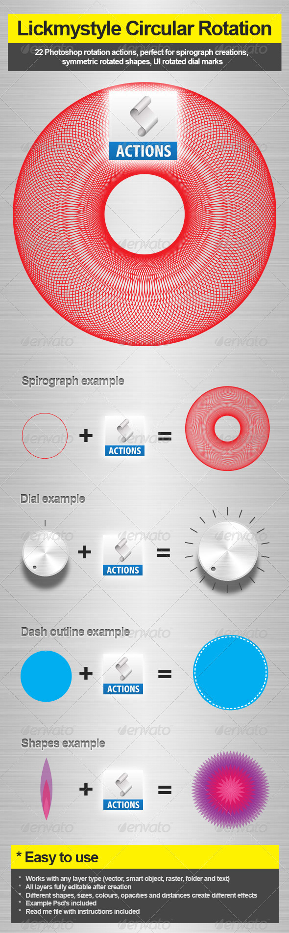 Circular Rotation Action - Photo Effects Actions
