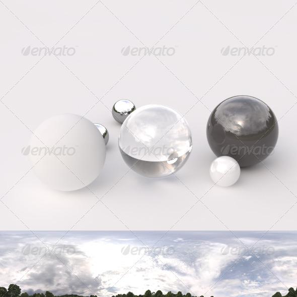 3DOcean HDRI spherical panorama 1630- cloudy sky 244989