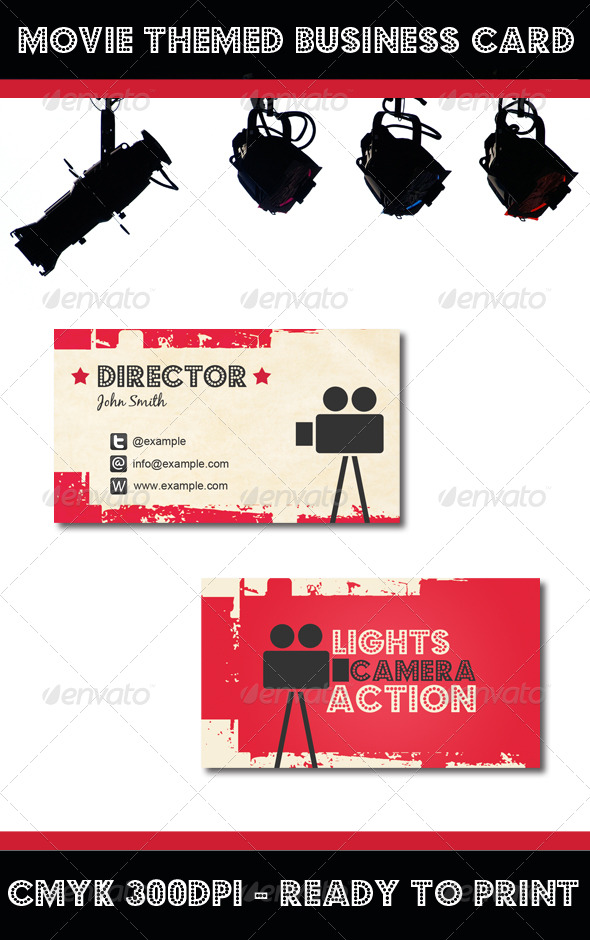 Movie Themed Business Card
