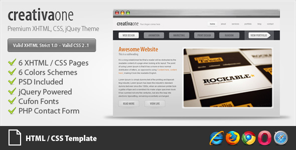 creativaone - Creative HTML/CSS Theme