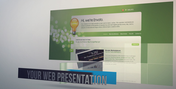 After Effects Project - VideoHive Easy Web Presentation 2163668