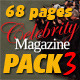 68 Pages Celebrity Magazine Pack 3 - GraphicRiver Item for Sale