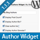 Advanced Blog Authors Widget - CodeCanyon Item for Sale