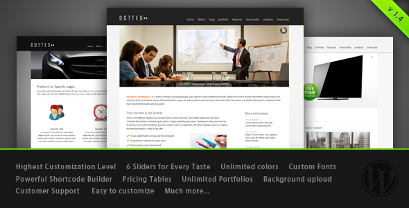 ThemeForest Dotted Innovative WordPress Theme 671789