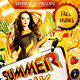 Summer Spring Break Music Dance Party Flyer - GraphicRiver Item for Sale
