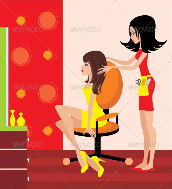 GraphicRiver Woman in a Beauty Salon 2166185