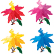 One set of colourful eurphobia flowers  - GraphicRiver Item for Sale
