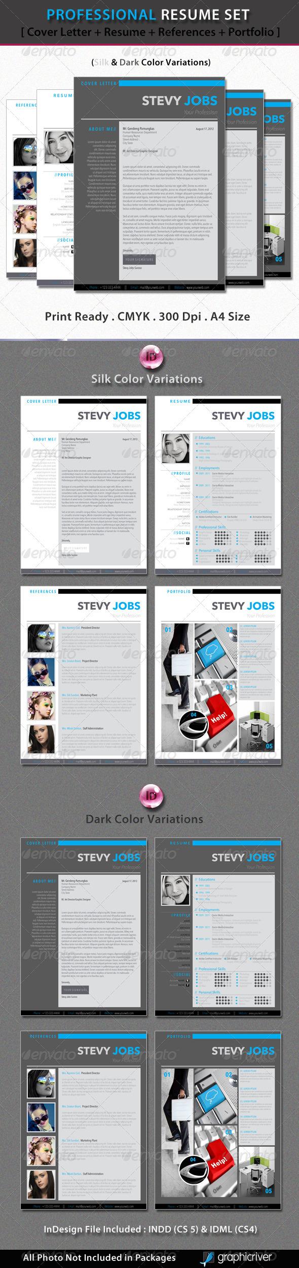 GraphicRiver Professional Resume Set 2166369