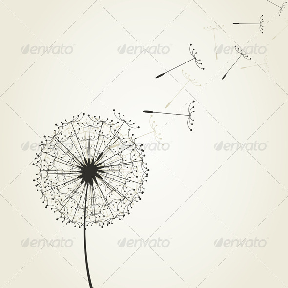 Graphic River Dandelion7 Vectors -  Conceptual  Nature  Flowers & Plants 2166530