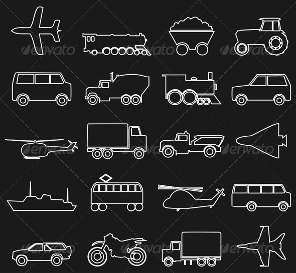 Graphic River Transport Icons 3 Icons -  Objects  Man-made objects 2166801