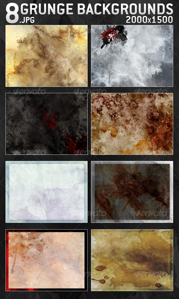 8 Grunge Backgrounds 2000x1500 - Backgrounds Graphics