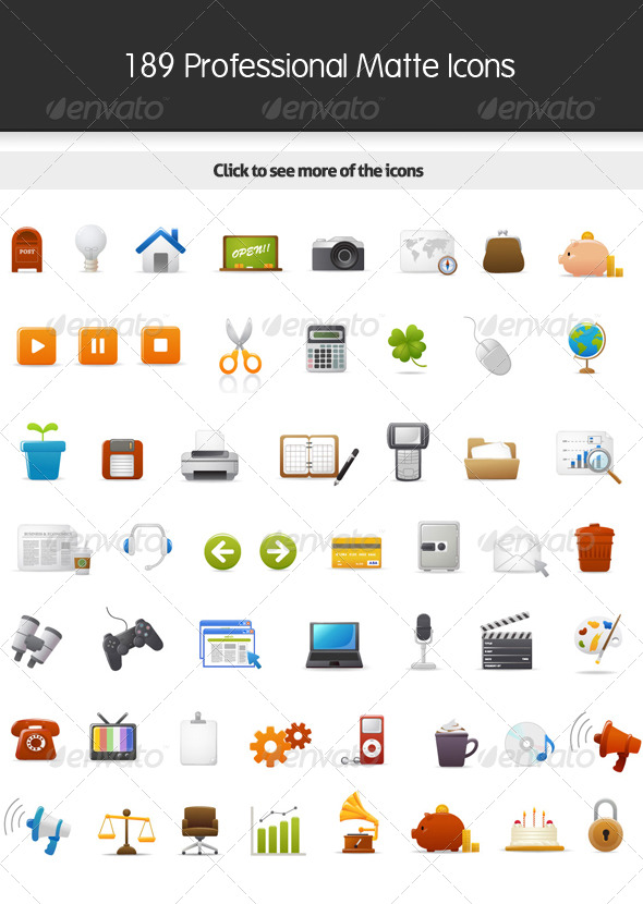 189 Matte Icons