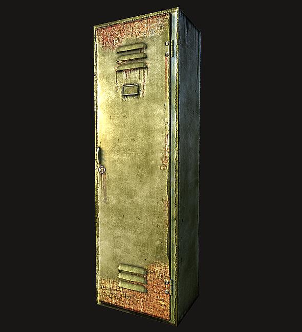 Lowpoly Old locker - 3DOcean Item for Sale