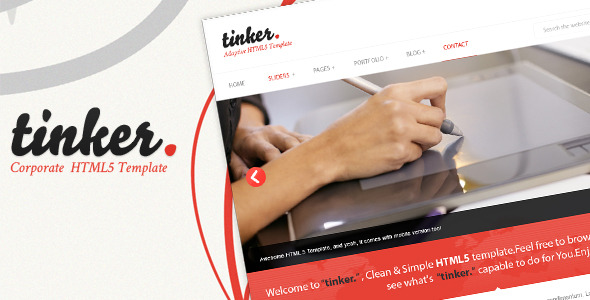 tinker -Simple Corporate HTML5 Template