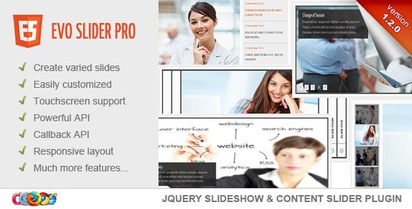 Evo Slider Pro - jQuery Slider Plugin - CodeCanyon Item for Sale