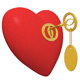 red heart and golden key - GraphicRiver Item for Sale
