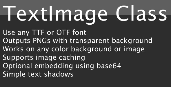 PHP Text Image Class