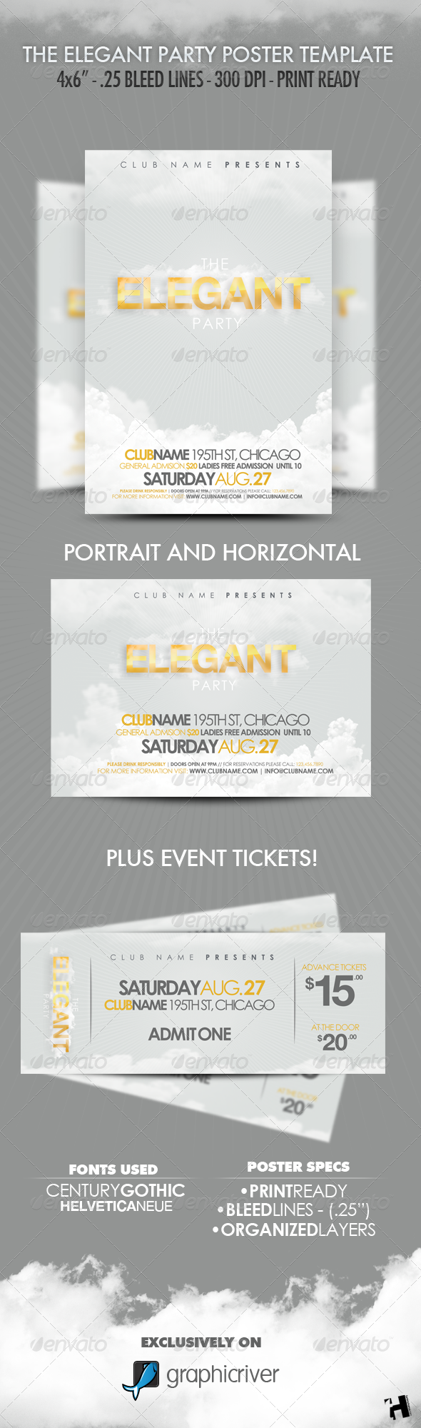 The Elegant Party Flyer Template