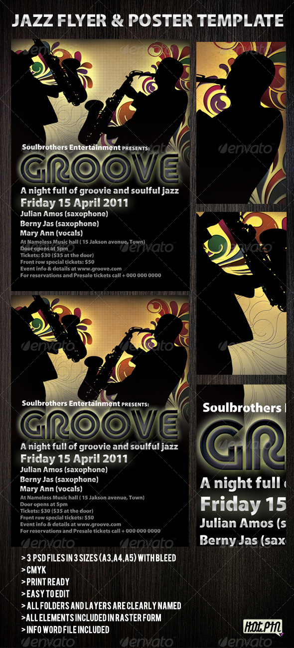 Jazz flyers & Poster template 2 - Concerts Events