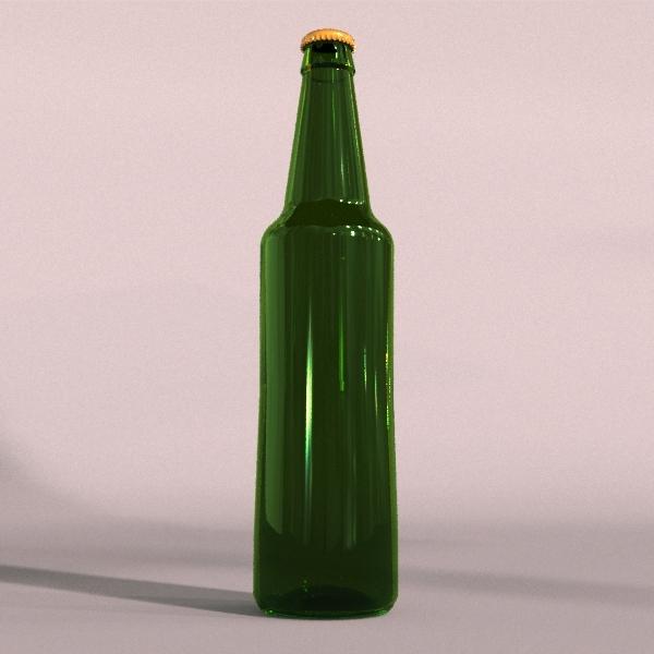 3DOcean Green beer bottle 2162702