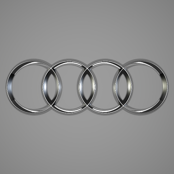 Audi Logo - 3DOcean Item for Sale
