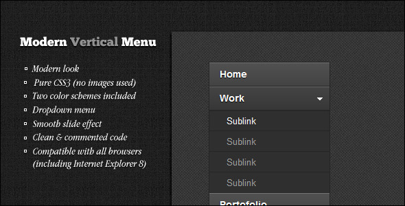CodeCanyon Modern Vertical Menu 2168420