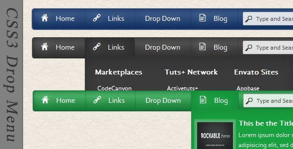 CodeCanyon CSS3 Drop Menu 2174442