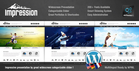 Impression Corporate Presentation WP Theme - Marketing Corporate