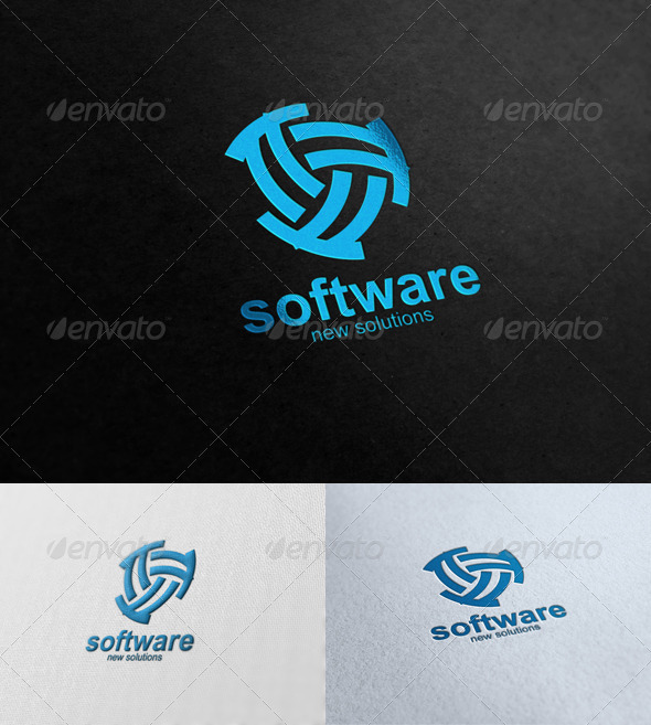 Software Solutions - Symbols Logo Templates