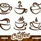 Vector set of coffee design elements - GraphicRiver Item for Sale