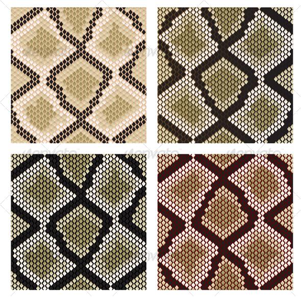 GraphicRiver Set of snake skin patterns 81809