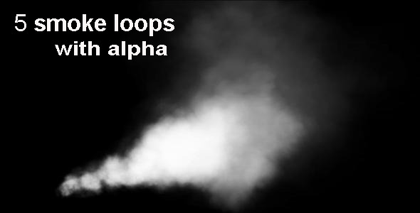 VideoHive Smoke Loops With Alpha 5-Pack 2178411