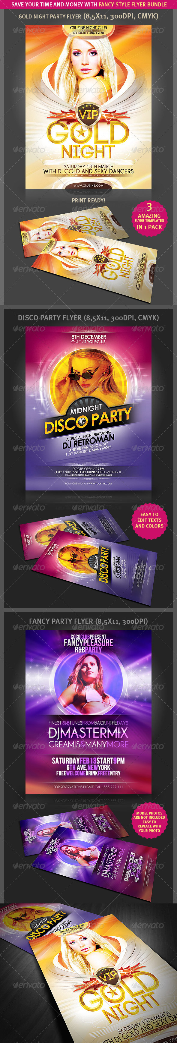 Fancy Style Flyer Bundle - Clubs & Parties Events