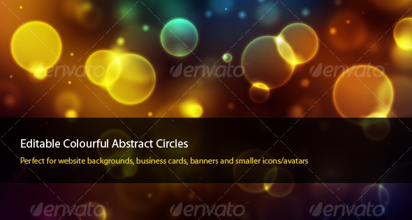 Colourful Abstract Circles - Abstract Backgrounds