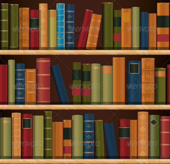 Old Books Preview Jpg American Retro Wallpaper Pattern Bookcase