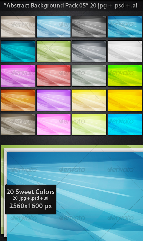 GraphicRiver Abstract Backgrounds Pack 05 73498