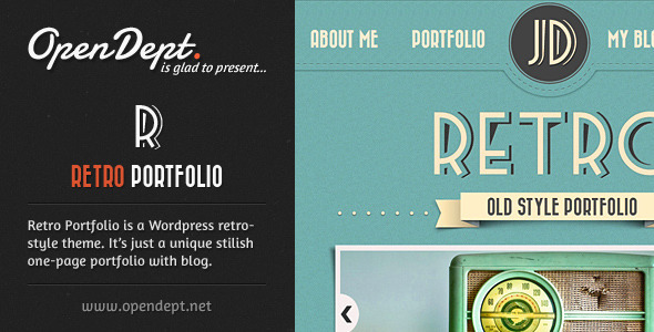 ThemeForest Retro Portfolio One Page Vintage Wordpress Theme 1708109