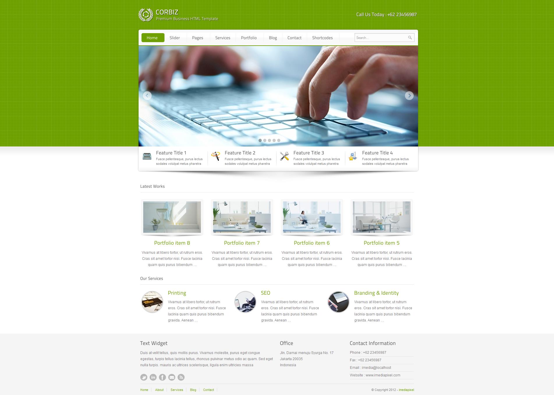 corbiz - Corporate and Business WordPress Theme