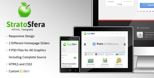 StratoSfera - Responsive Template - Creative Site Templates