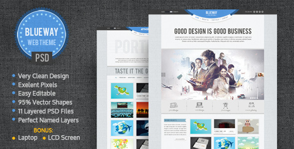 BlueWay - Minimal & Clean PSD Template - Portfolio Creative