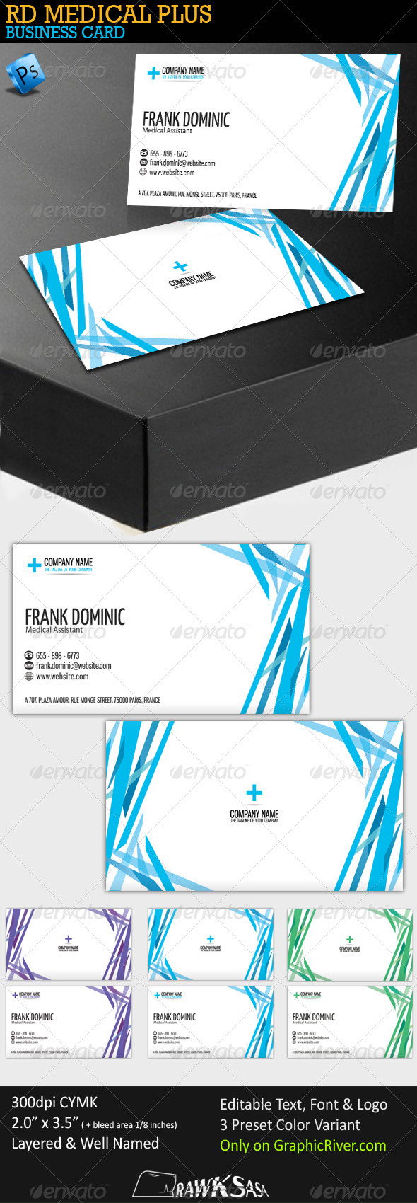 GraphicRiver RD Medical Plus Business Card 247464